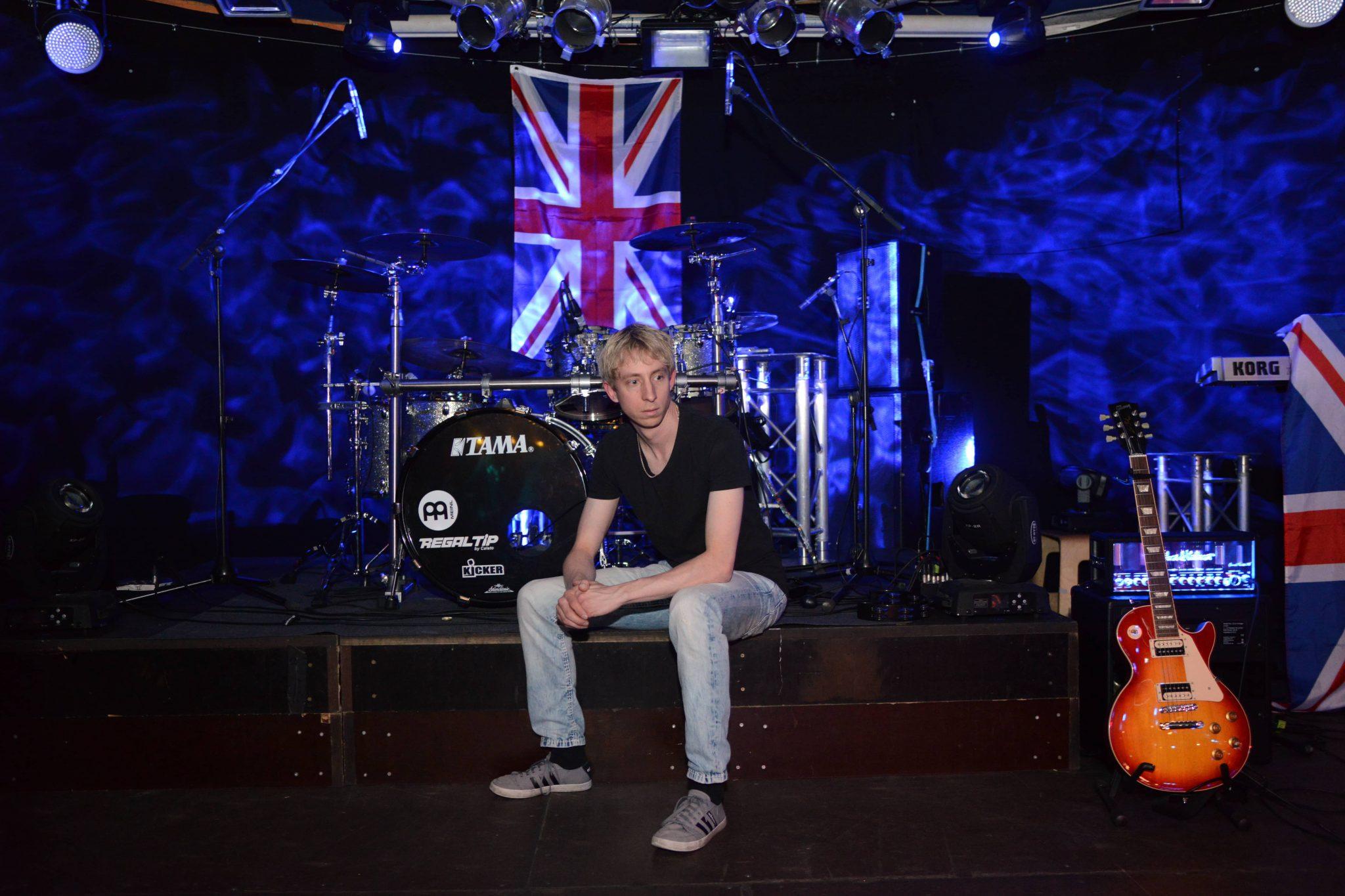 Florian Fochs Schlagzeug Bühne